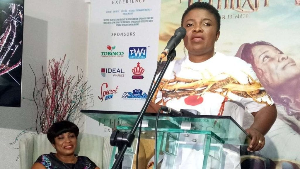 Ohemaa-Mercy-speaking-at-the-launch-of-this-year-s-Tehillah-Experience
