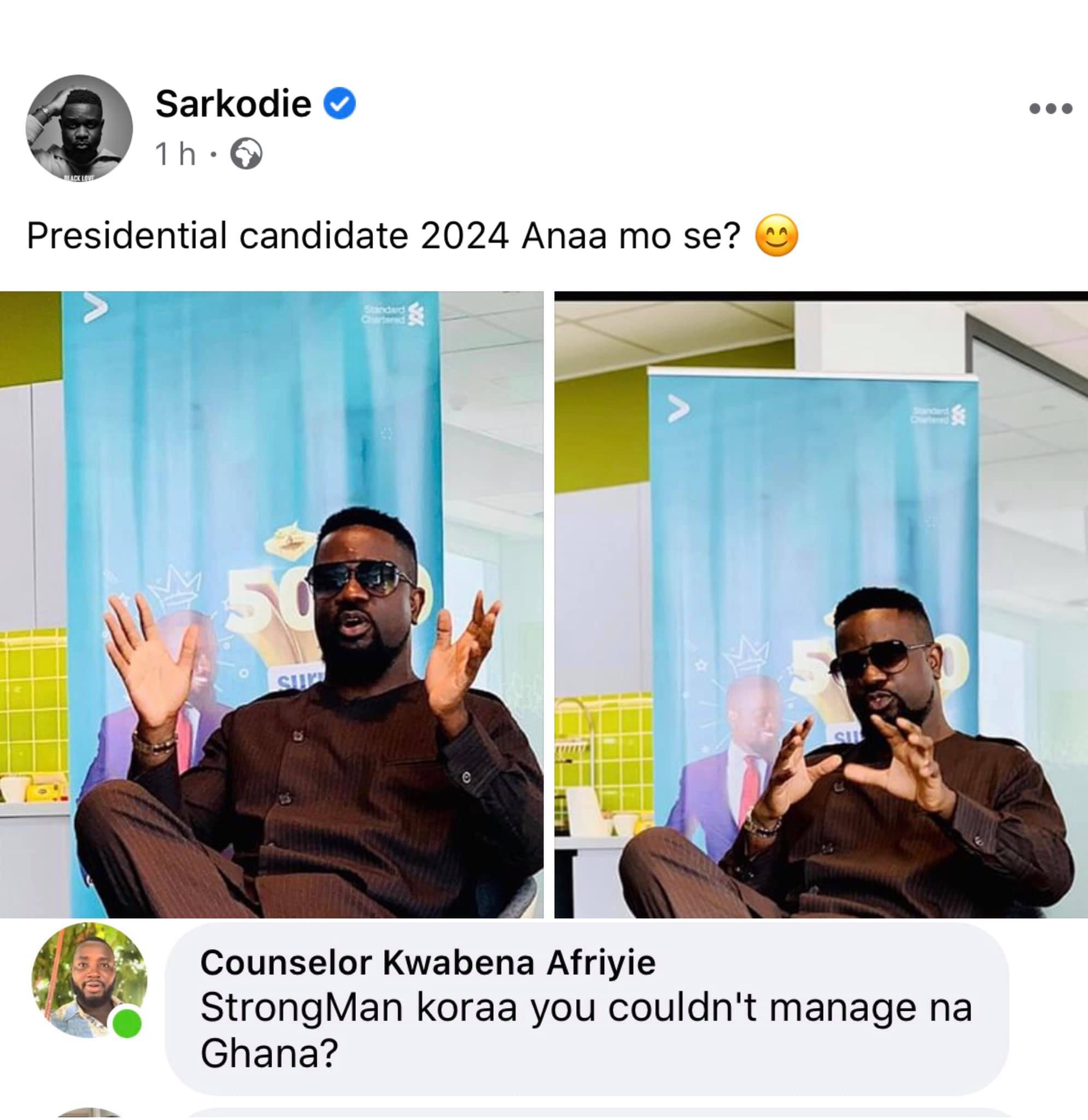 Sarkodie president