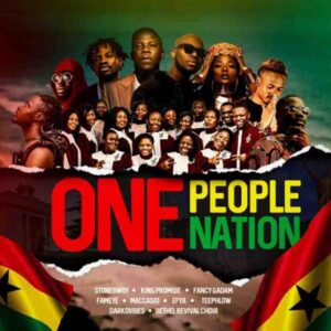 Stonebwoy – One People One Nation Ft. Efya ,King Promise , Fameye, Maccasio , Bethel Revival Choir, Fancy Gadam , Teephlow & Darko Vibes